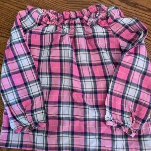 Toddler girls pink flannel shirt